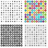 100 idea icons set vector variant. 100 idea icons set vector in 4 variant for any web design isolated on white Royalty Free Stock Image