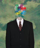 Idea, Ideas, Innovation, Invent, Invention. Abstract concept for idea, ideas, innovation, invent, and invention. Business suit and tie creates a metaphor for Royalty Free Stock Image