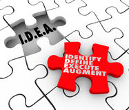 Idea Identify Define Execute Augment Acronym Puzzle Piece Solve Royalty Free Stock Image