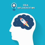 Idea implementation and startup business concept. Stock Image