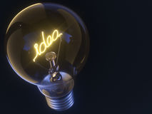Idea Incandescent Light Bulb Royalty Free Stock Photos