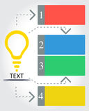 IDEA infographic. With flat design Stock Photo