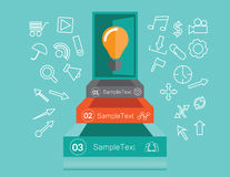 Idea infographics concept Royalty Free Stock Image
