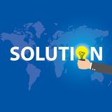 Idea or innovation change problem to solution concept, vector Stock Image