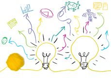 Idea and innovation concept. With business symbol Royalty Free Stock Photography