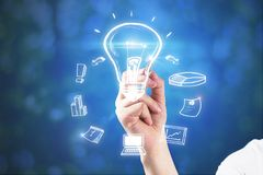 Idea and innovation concept royalty free stock photos