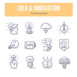 Idea & Innovation Doodle Icons Royalty Free Stock Image