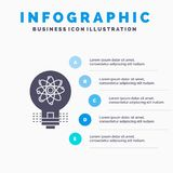 Idea, innovation, light, solution, startup Infographics Template for Website and Presentation. GLyph Gray icon with Blue. Infographic style vector illustration royalty free illustration