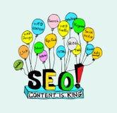 Idea inspired bulb Seo Idea SEO Stock Image