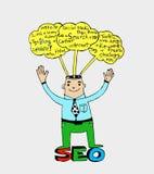 Idea inspired bulb Seo Idea SEO Stock Images