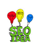 Idea inspired bulb Seo Idea SEO Stock Photography
