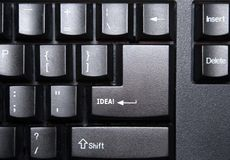 Idea Key on Computer Keyboard. Computer keyboard - Return key with the word Idea on it Stock Photography