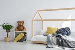 Idea for kids bedroom. Brilliant idea for fun kids bedroom in scandi style royalty free stock photo