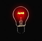 Idea Lamp. Bulb that have source of idea lighting stock image