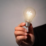 Idea lamp bulb Stock Images