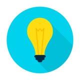 Idea Lamp Flat Circle Icon Royalty Free Stock Photography