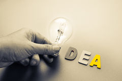 Idea lamp Royalty Free Stock Images