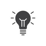 Idea lamp icon vector, filled flat sign, solid pictogram isolated on white. Symbol, logo illustration. Royalty Free Stock Images