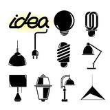Idea lamp icons Stock Photo