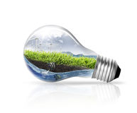 Idea, lampadina Fotografia Stock Libera da Diritti