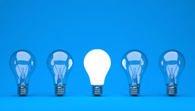 Idea or leadership concept on a blue background Stock Image