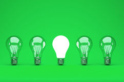 Idea or leadership concept on a green background Royalty Free Stock Photos