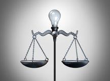 Idea legal ilustración del vector