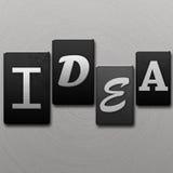 Idea - lettere dello scritto tipografico Fotografia Stock Libera da Diritti