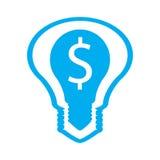 Idea ligera con la muestra de dólar Foto de archivo