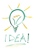 Idea light bulb. Royalty Free Stock Photo