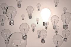 Idea light bulb Royalty Free Stock Photography
