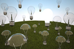 Idea light bulb Royalty Free Stock Image