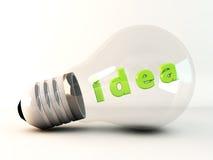 Idea light bulb Royalty Free Stock Photos