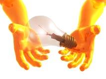 Idea Light Bulb 3d Arms Royalty Free Stock Photo