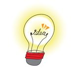Idea light bulb Stock Photography