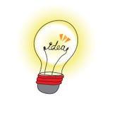 Idea light bulb. Vector illustration Stock Photography