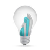Idea light bulb business graph illustration Stock Images