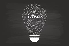 Idea Light Bulb Concept Stock Images