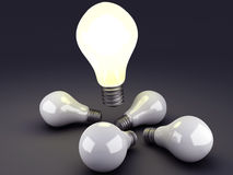 Idea Light Bulb Royalty Free Stock Images
