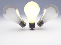 Idea Light Bulb Stock Photos
