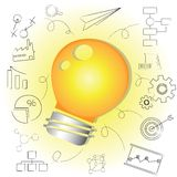 Idea light bulb, creative solution Royalty Free Stock Image