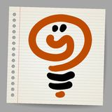 Idea light bulb doodle vector illustration Stock Photo