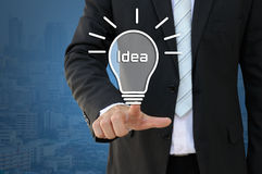 Idea light bulb idea of new innovation Royalty Free Stock Image