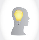 Idea light bulb illustration design Royalty Free Stock Images