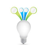 Idea light bulb Infographic template illustration Stock Photos