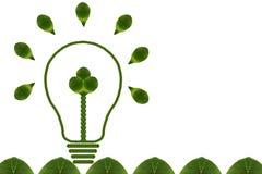 Idea light bulb from leaf. Stock Photos
