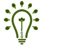 Idea light bulb from leaf. Stock Image