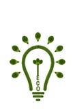 Idea light bulb from leaf. Royalty Free Stock Photo