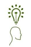 Idea light bulb from leaf. Stock Photo