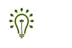 Idea light bulb from leaf. Royalty Free Stock Photos